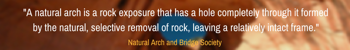 What is a Natural Arch, NaturalArches.org